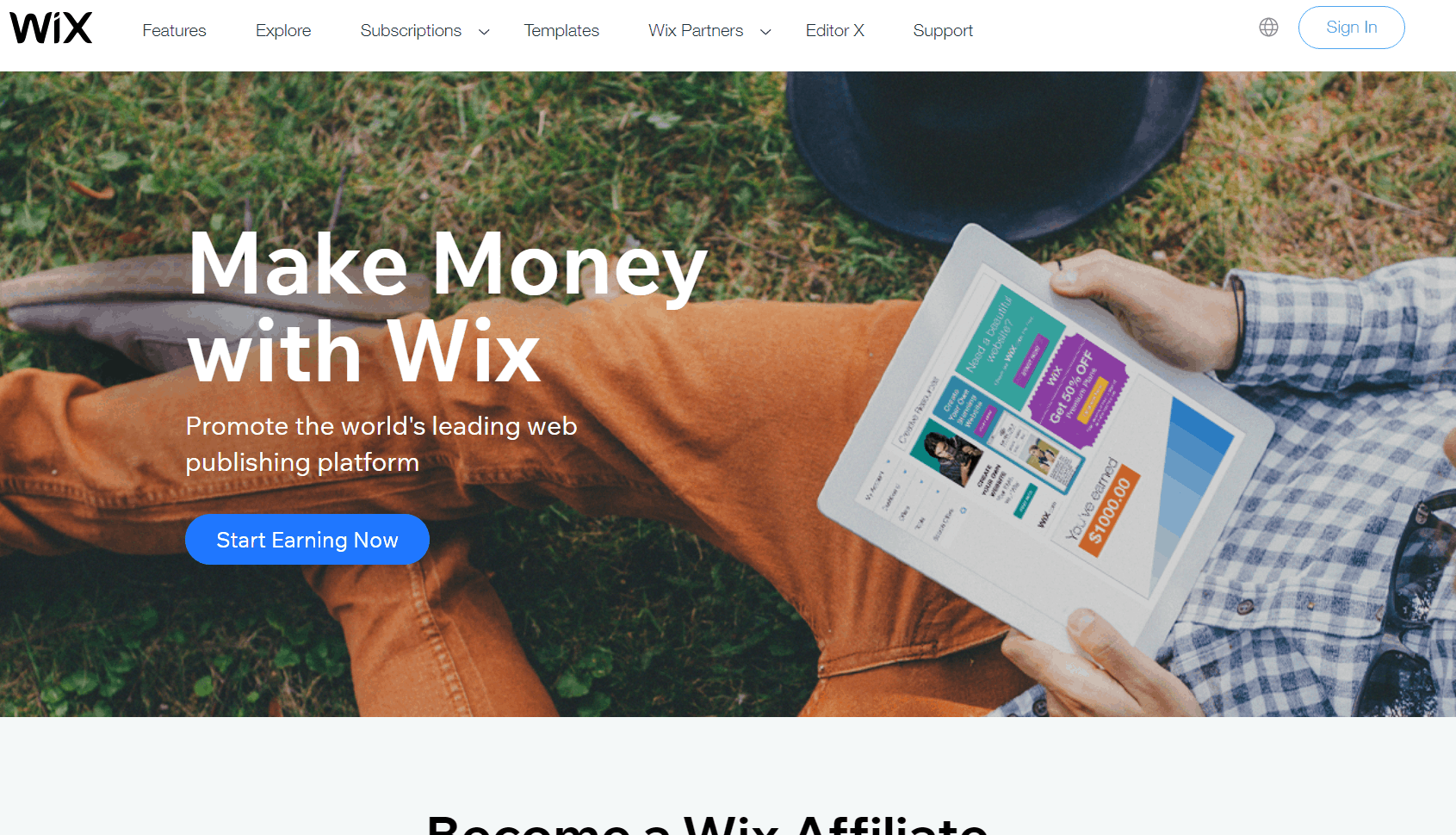 Wix website preview