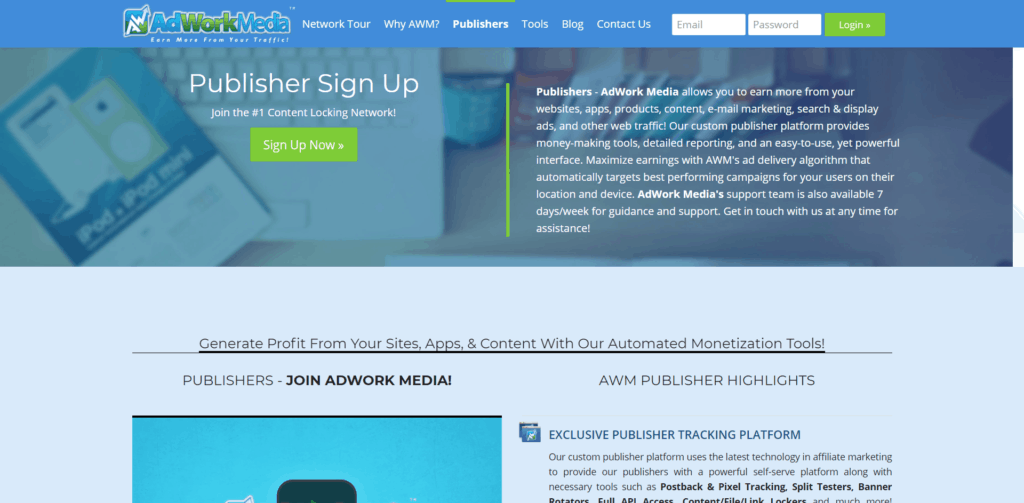 Adwork Media Website Preview