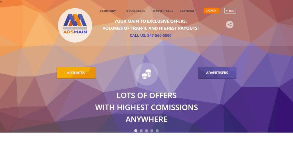 AdsMain website