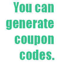 Generate coupon codes