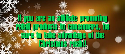Earn high affiliate commissions at Christmas